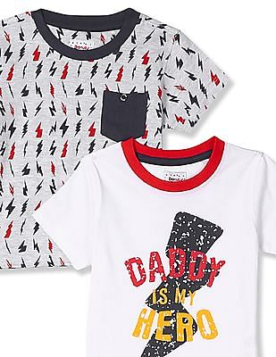 Donuts Boys Cotton T-Shirt - Pack Of 2