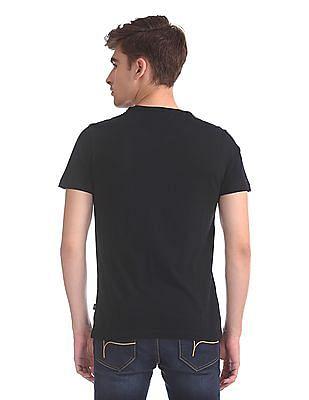 Flying Machine Regular Fit Textured T-Shirt