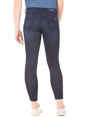 Flying Machine Women Dark Wash Super Skinny Jeans