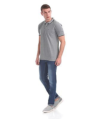 Ruggers Short Sleeve Striped Polo Shirt