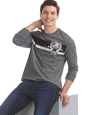 U.S. Polo Assn. Denim Co. Grey Long Sleeve Heathered T-Shirt