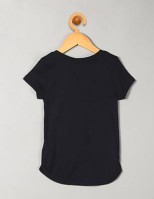 GAP Girls Blue Short Sleeve Rib Tee