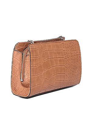 GUESS Metallic Accent Textured Sling Bag