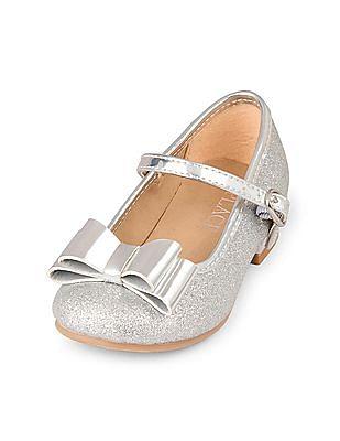 The Children's Place Toddler Girl Bow Glitter Olivia Mini Heel