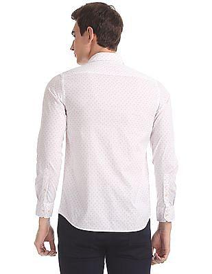 Arrow Sports White Slim Fit Spread Collar Shirt