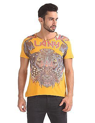 Ed Hardy Slim Fit Graphic Print T-Shirt