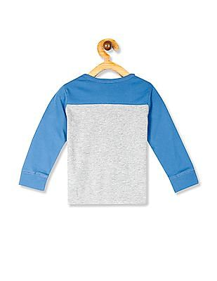 The Children's Place Toddler Boy Long Sleeve Colour Blocked Graphic Sweatshirt