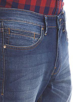 Arvind Skinny Fit Stone Wash Jeans