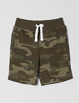 GAP Toddler Boy Print Pull-On Shorts in Stretch Jersey