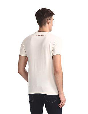 Ed Hardy Multi Colour Cut And Sew Panel Brand Print T-Shirt