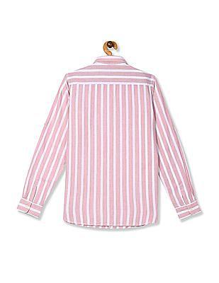 U.S. Polo Assn. Kids Pink Boys Button Down Striped Shirt