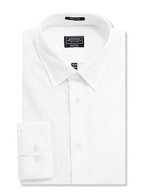 Arrow Newyork White Slim Fit Solid Shirt