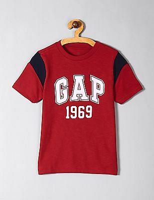 GAP Red Boys Kids Gap Logo Short Sleeve T-Shirt