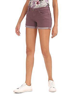 Aeropostale High Waist Denim Shorts