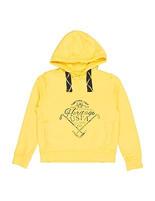 U.S. Polo Assn. Kids Boys Hooded Printed Sweatshirt
