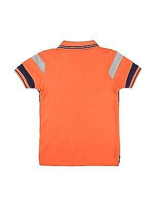 Cherokee Boys Panelled Colour Block Polo Shirt