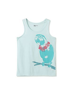 GAP Girls Glitter Graphic Tank