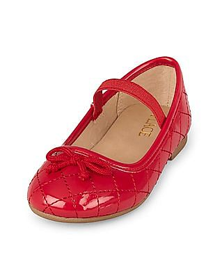 The Children's Place Toddler Girl Quilted Kayla Ballet Flat