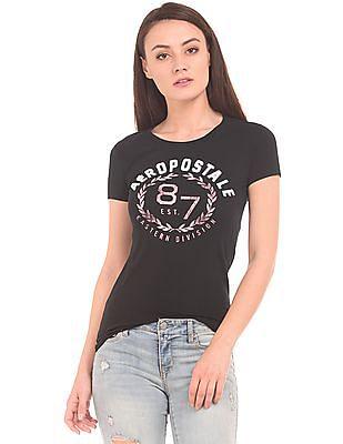 Aeropostale Brand Applique Round Neck T-Shirt