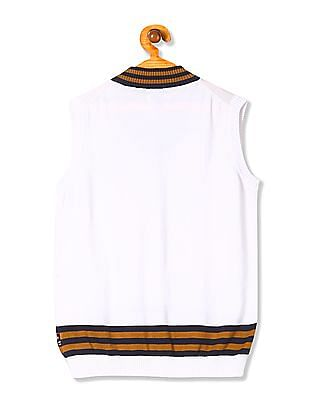 U.S. Polo Assn. Kids Boys Solid V-Neck Sweater