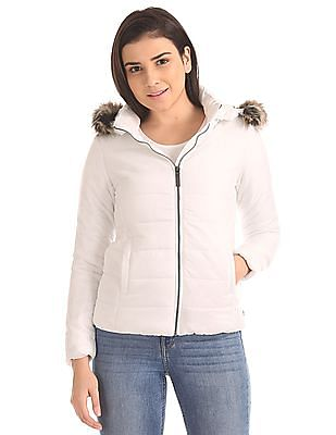 U.S. Polo Assn. Women Hooded Puffer Jacket