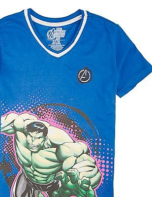 Colt Boys V-Neck Hulk Print T-Shirt