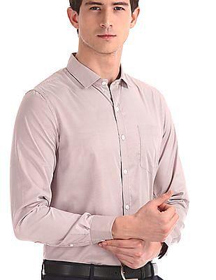Excalibur Brown Long Sleeve Striped Shirt