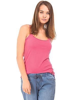SUGR Solid Cotton Spandex Camisole