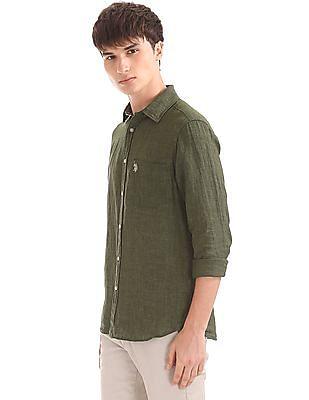U.S. Polo Assn. Regular Fit Linen Shirt