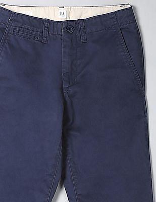GAP Toddler Boy Blue Flannel-Lined Khakis