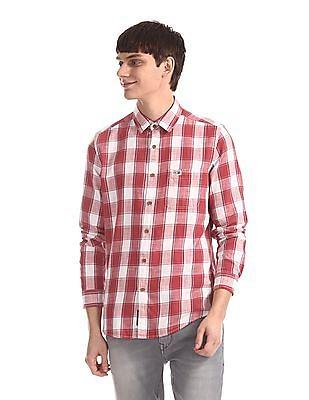 U.S. Polo Assn. Denim Co. Red Check Cotton Shirt