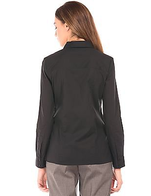 Arrow Woman Solid Cotton Lycra Shirt