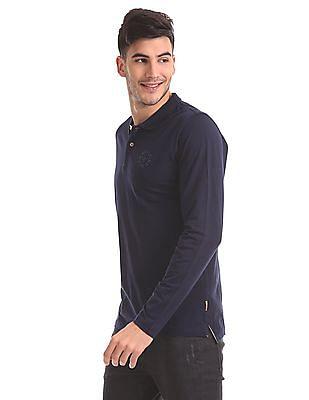 Flying Machine Slim Fit Long Sleeve Polo Shirt