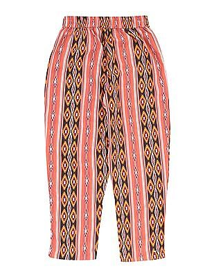 Cherokee Girls Drawstring Waist Printed Pants