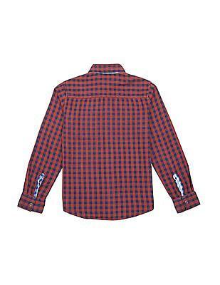 FM Boys Boys Slim Fit Reversible Check Shirt