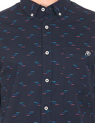 Aeropostale Printed Button Down Shirt