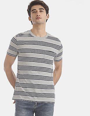GAP Grey Stripe Pocket T-Shirt