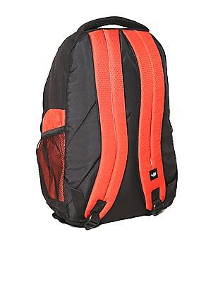 Flying Machine Red Honeycomb Texture Laptop Backpack