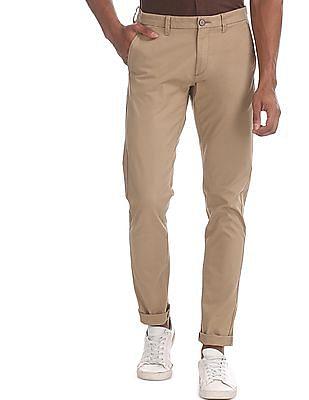 U.S. Polo Assn. Brown Austin Trim Regular Fit Twill Trousers
