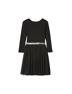 GAP Girls Black Shimmer Waist Tutu Dress