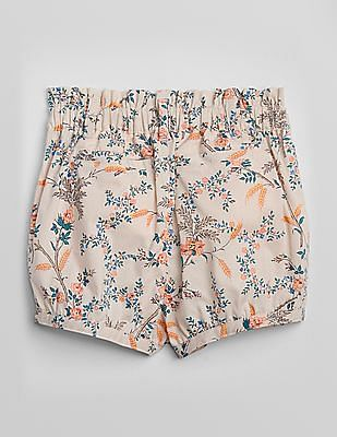 GAP Toddler Girl Pink Pull On Print Bubble Shorts