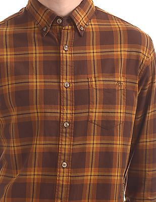 Aeropostale Button Down Collar Check Shirt