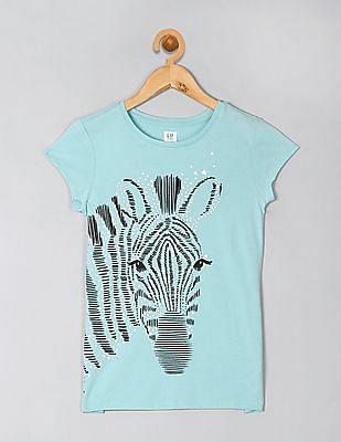 GAP Girls Short Sleeve Graphic T-Shirt