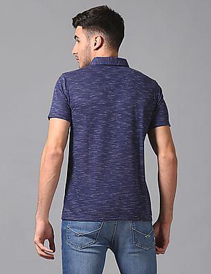 True Blue Slim Fit Jacquard Polo Shirt