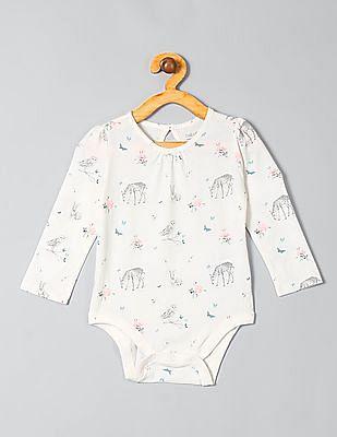 GAP Baby White Printed Bodysuit