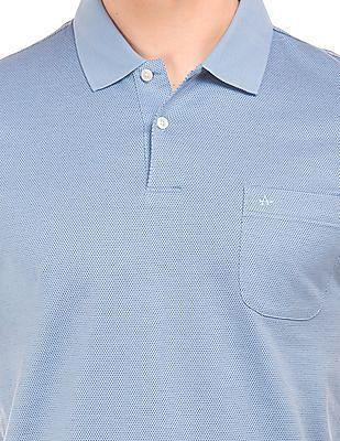 Arrow Patterned Knit Regular Fit Polo Shirt