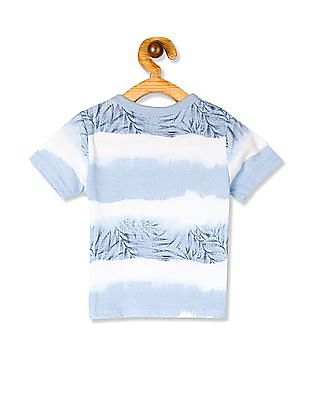 The Children's Place Blue Baby Crew Neck Graphic T-Shirt