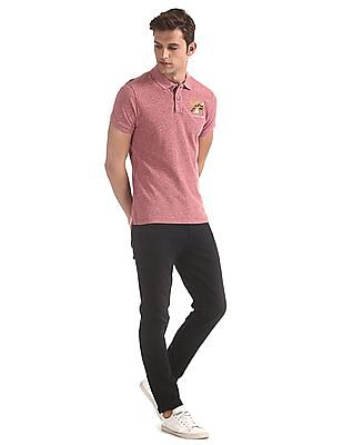 U.S. Polo Assn. Denim Co. Red Heathered Pique Polo Shirt