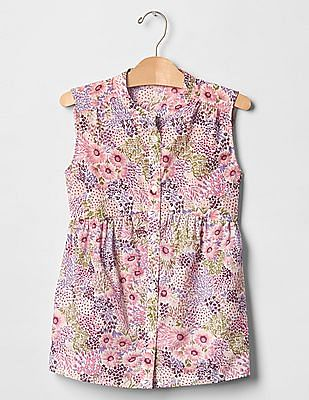 GAP Girls Pink Floral Top