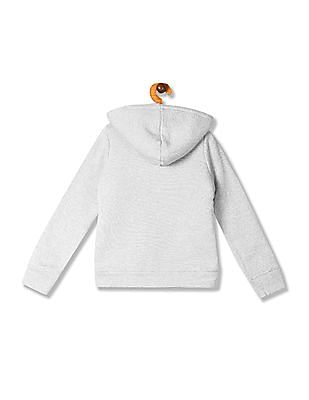 The Children's Place Grey Girls Hooded Sherpa Sweatshirt